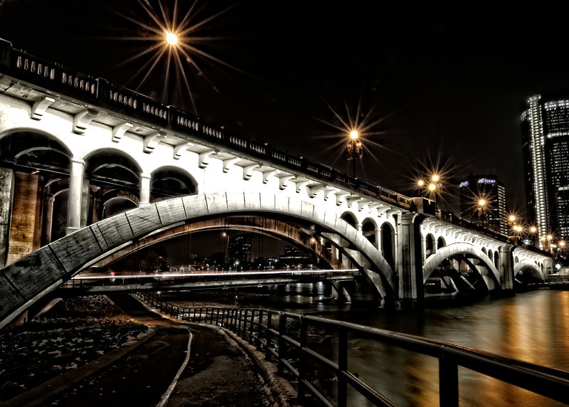 Centre Street Bridge at night