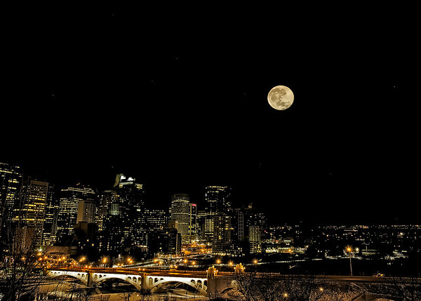 Full Moon Over Calgary