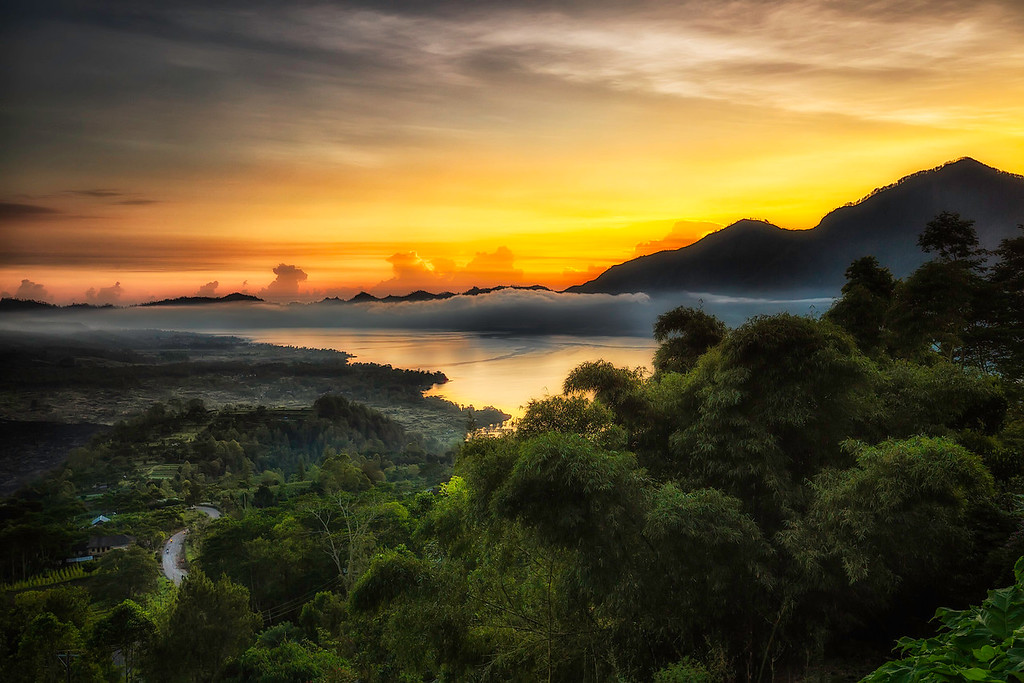 Morning Mist over Lake Batur