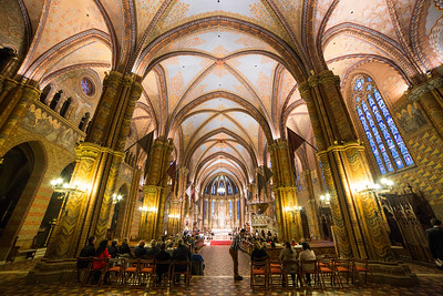 Inside of St Mathias church in Buda Castle