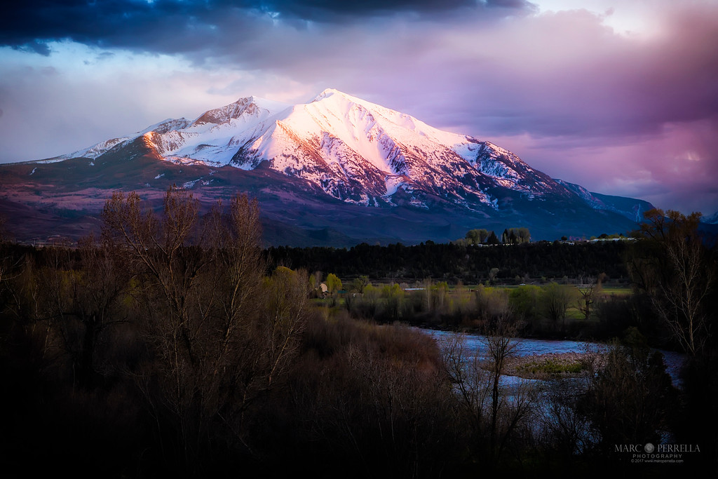 Red Skies over Mt Sopris