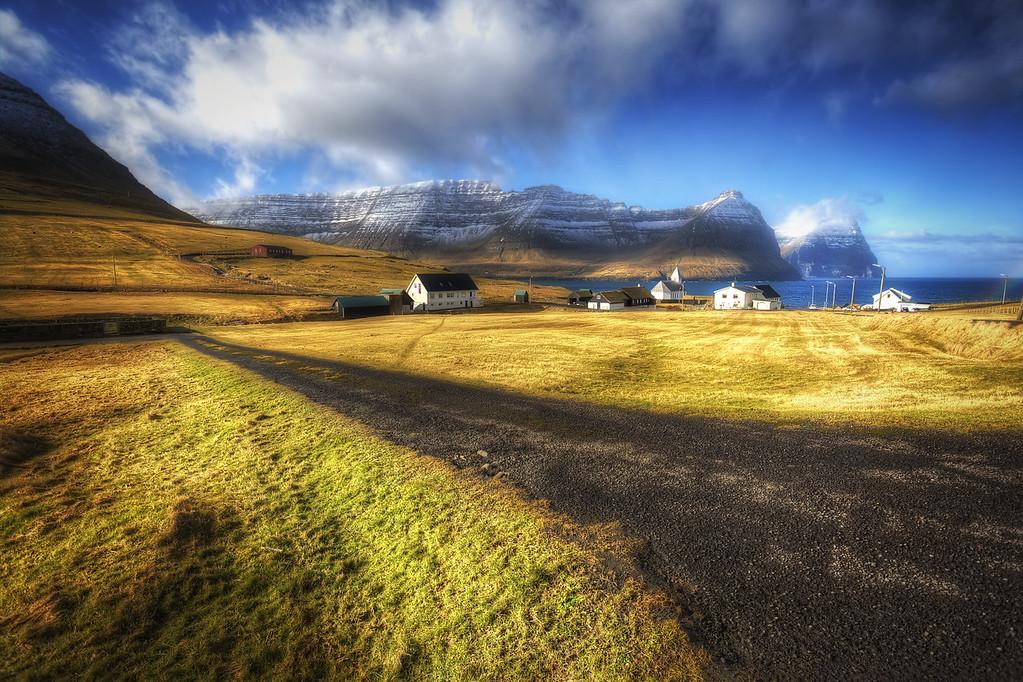 The village of Viðareiði