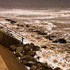 The seawall during a storm