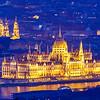 Parlament és Bazilika a Hármashatár-hegyről
