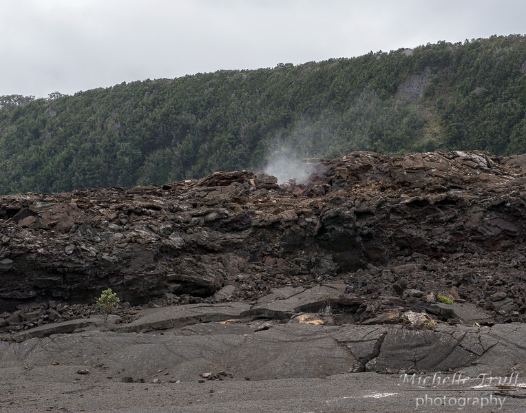 Crater floor is STILL steaming…amazing!