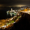 Night view of Montreux and Lake Geneva