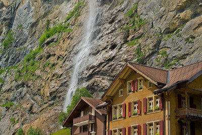 Waterfall near Lauterbrunnen, Switzerland
