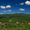Kilátás a mátrafüredi Kozmáry-kilátóból Kékestető felé.