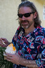 Bruce discovering Hawaiian Ice for the first time.  It is wonderful…delicious and so refreshing!<br /> <br /> BTW his shirt got a lot of comments :-).
