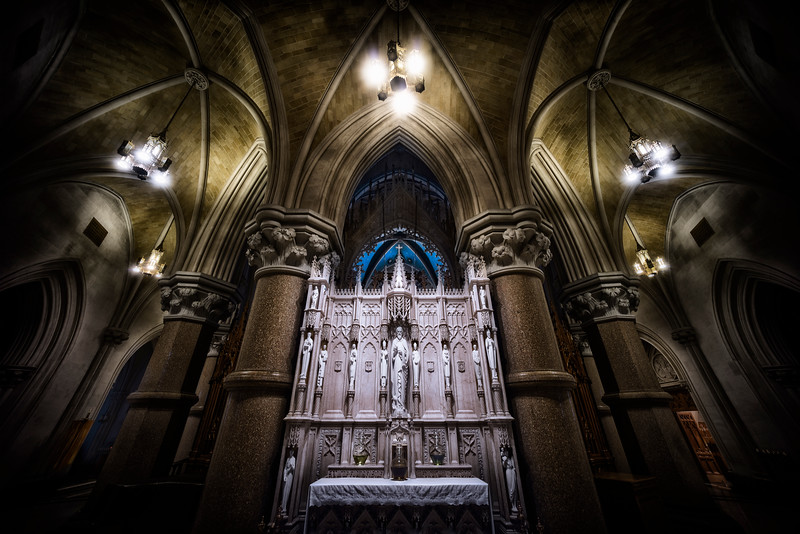 Behind the Altar