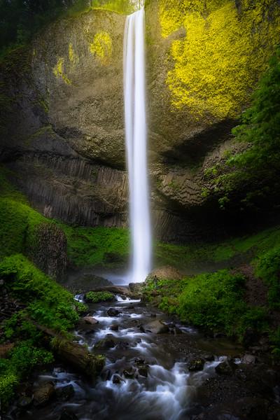 Under Latourelle Falls