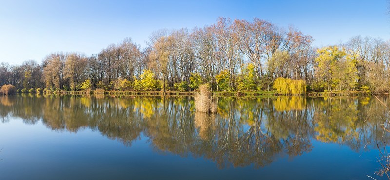 A váci Liget-tó ősszel
