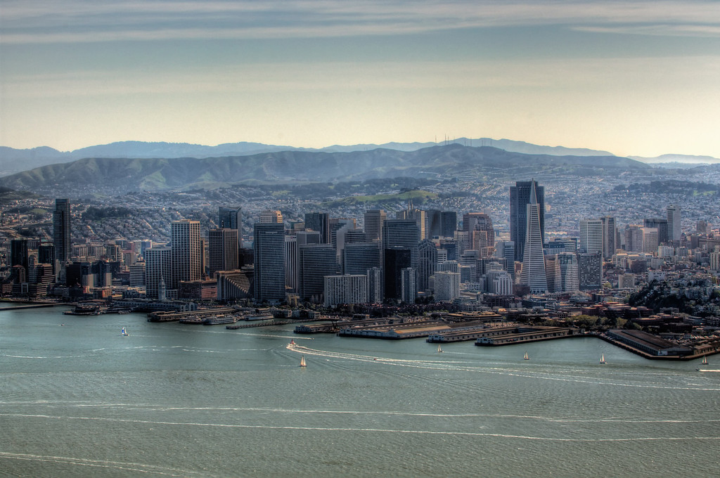 Downtown SF, Mt. San Bruno in the distance.