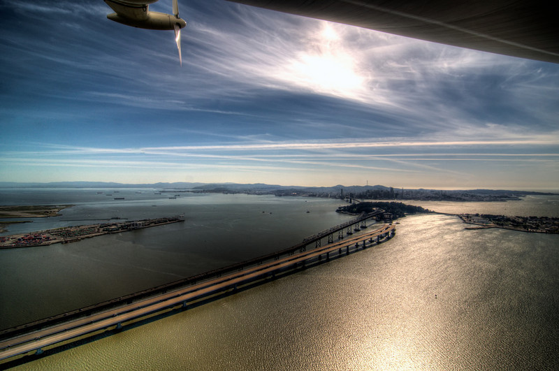 New span of the Bay Bridge, almost completed at Treasure Island.