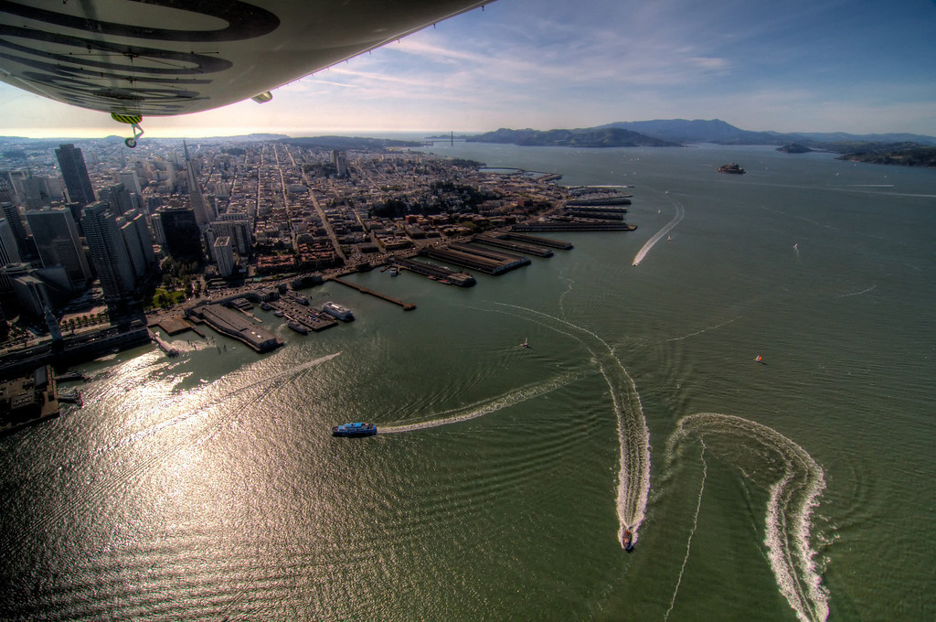 Zeppelin Eureka flight over SF Bay