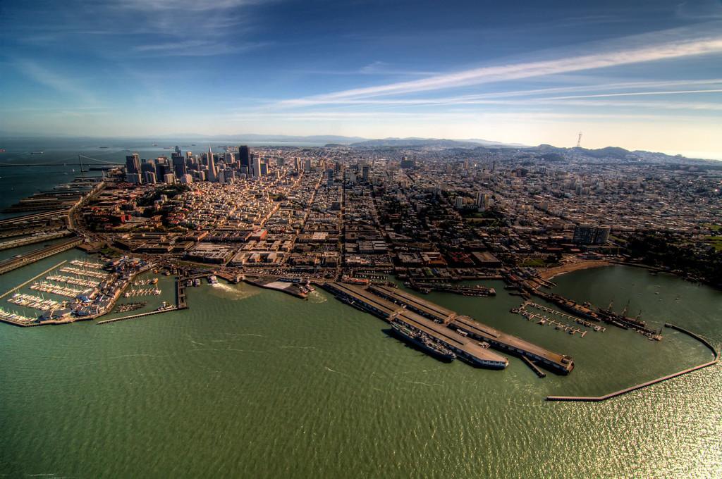 Pier 39, Fisherman's Wharf, and Aquatic Park.