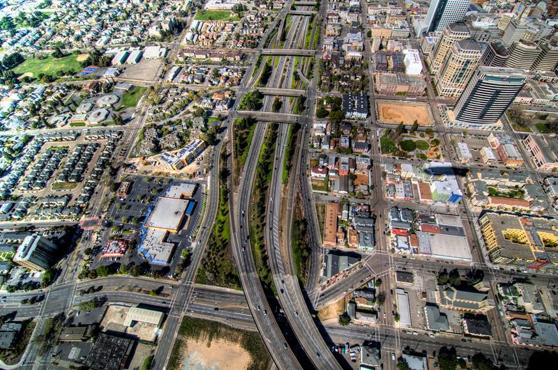 Route 24 through Oakland.