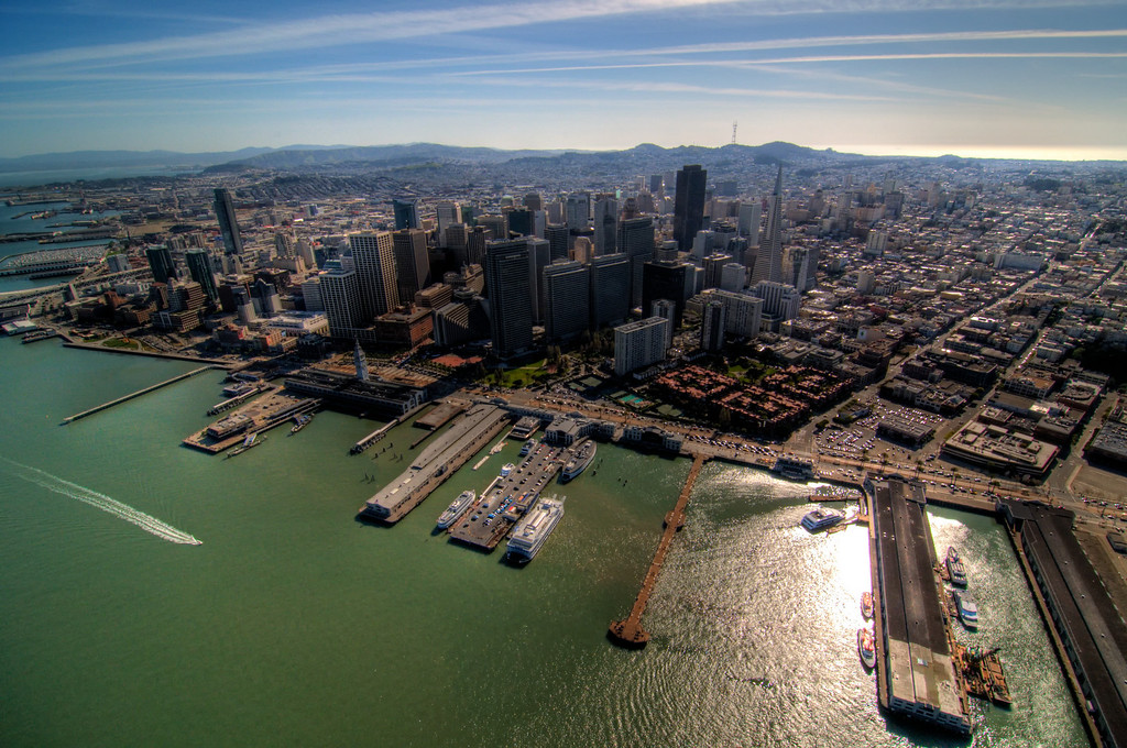 Downtown SF, Ferry Building and the waterfront.