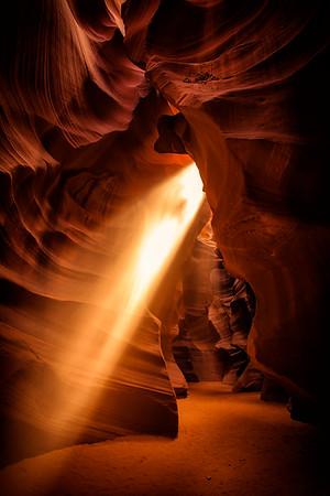 Sunbeam in Antelope Canyon