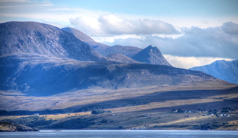 Mountains of Wester Ross from the Minch