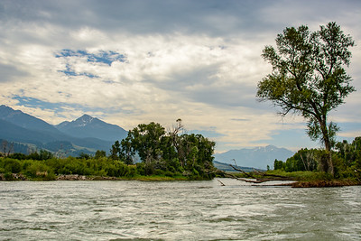 Rafting the Yellowstone River before the storm