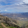 The Pacific Crest Trail from the Laguna Mountains overlooking Anza Borrego Desert