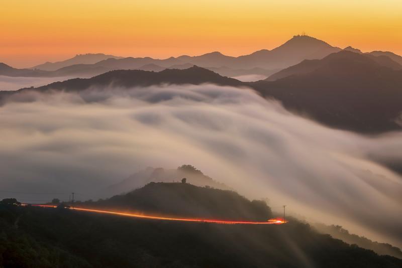 Sunset Fog, Malibu CA