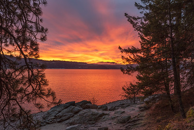 Lake Coeur d'Alene Sunrise View