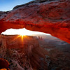 Sunrise at Mesa Arch, Canyonlands, Moab, Utah. USA