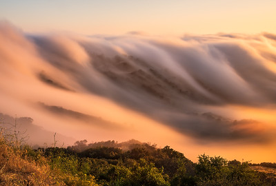 Long Exposure sunset fog flow on Piuma, Malibu CA