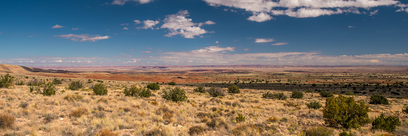 Painted Desert, AZ, in the distance