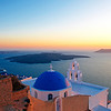 Sunset in Santorini, Greek Islands, Mediterranean