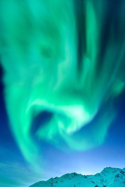 Northern lights, Aurora Borealis at Coldfoot Camp, Alaska