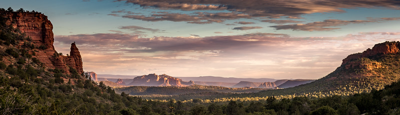 Sedona valley sunset.
