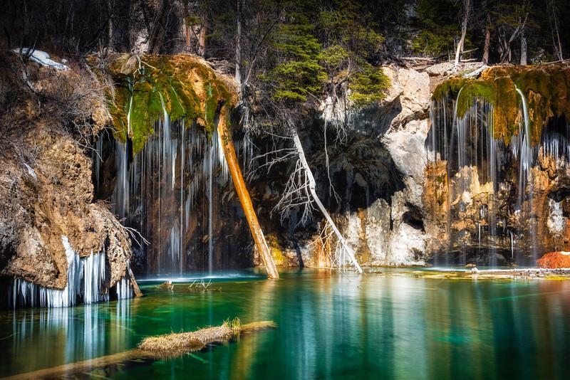 Hanging Lake in the winter, Glenwood Canyon, Colorado