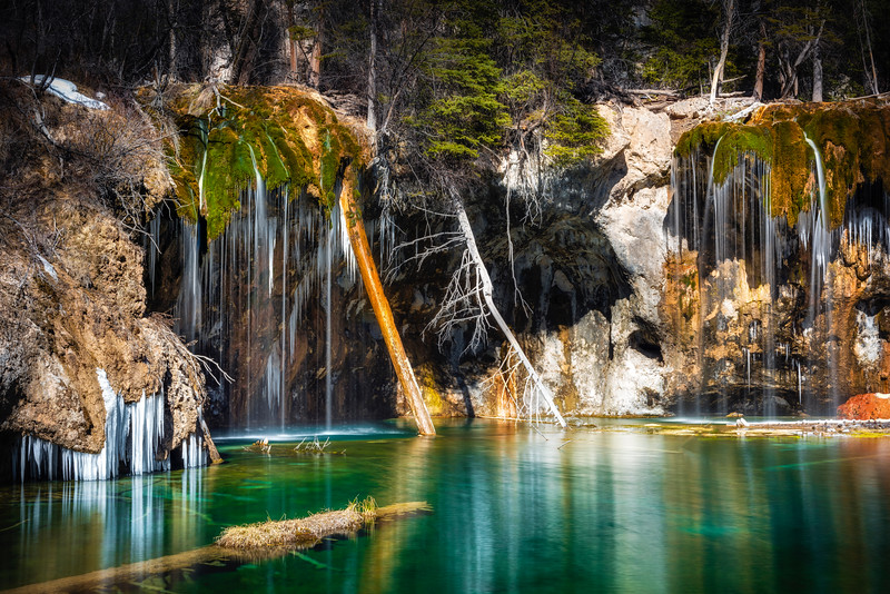 Hanging Lake in the winter, Glenwood Canyon, Colorado