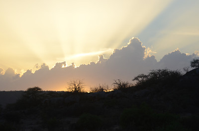 Sunset Samburu National Reserve Kenya 2011
