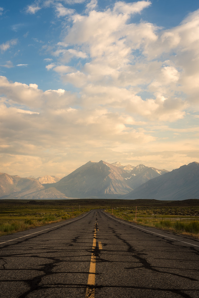 Mammoth Lakes road sunset