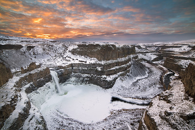 Palouse Falls Winter Sunrise
