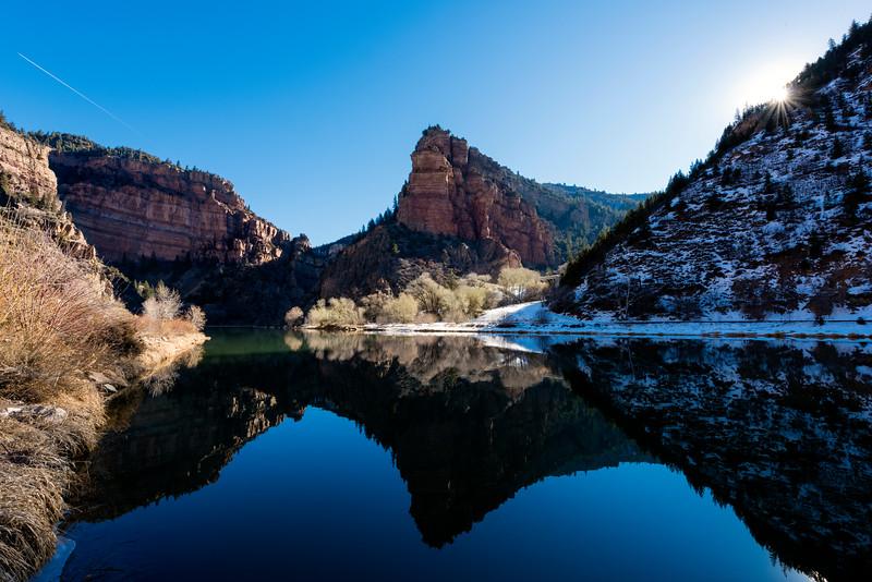 Colorado River, Glenwood Canyon, winter, USA