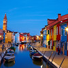 The evening light in Burano, Italy