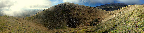 A Panaramic shot of an old cinder cone on Maunakea