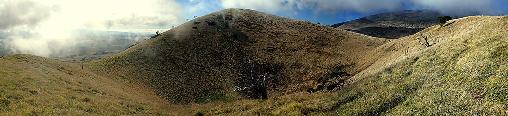 A Panaramic shot of an old cinder cone on Maunakea