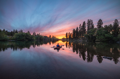 Spokane River Kayak Last Light