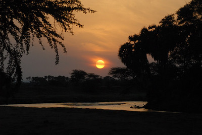 Sunrise Ewaso Nyiro River Samburu National Reserve Kenya 2006