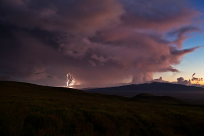 "A thunderstorm over Hualālai on the ""Big Island"" of Hawaii, 5/26/2014"