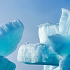 Massive blocks of sea ice are pushed up by the forces of mother nature.  Bering sea, Alaska