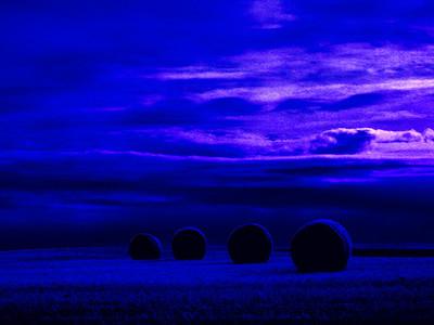 Saskatchewan Hay Roles Blue