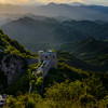 "The Great Wall of China - Simitai section near Tang Jia Zhai - this means Tang family village, Tang is a Chinese first name.  The famous high castle on the wall here is called ""Wang Jing Lou""  It means you can see Beijing on the tower.<br /> Guide: Mr Shi"