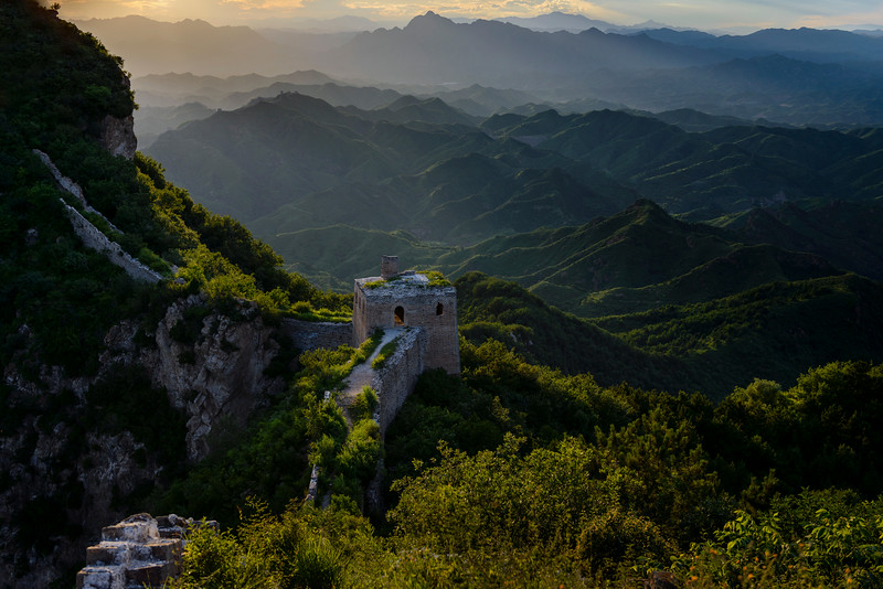 """The Great Wall of China - Simitai section near Tang Jia Zhai - this means Tang family village, Tang is a Chinese first name.  The famous high castle on the wall here is called """"Wang Jing Lou""""  It means you can see Beijing on the tower.<br /> Guide: Mr Shi"""